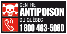 CENTRE ANTI-POISON DU QUÉBEC  24/7 (services available in English)